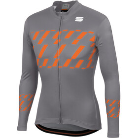 Sportful Tec-Trix Maillot manga larga Hombre, cement/orange sdr